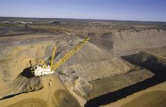 Black Coal Mining, Dragline Removing Overburden, Australia Stock Photos