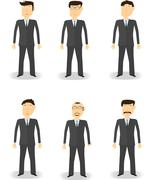 Cartoon business man characters Stock Illustration