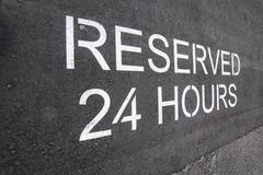Reserved Sing, Parking Lot - stock photo