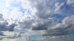 Sunset sky with clouds. Timelapse - stock footage