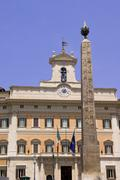 Chamber of Deputies, Montecitorio Square, Rome, Latium, Italy - stock photo