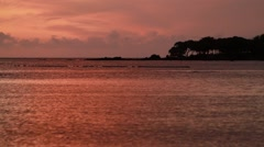 Sunset shot in Hawaii Stock Footage