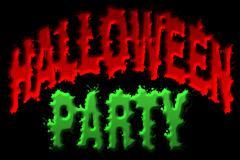 halloween party title art - stock illustration