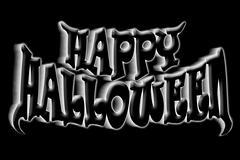 happy halloween art title - stock illustration