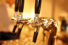 Close-up of Beer Taps Stock Photos