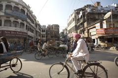 Street Scene in Amritsar, Punjab, India Stock Photos