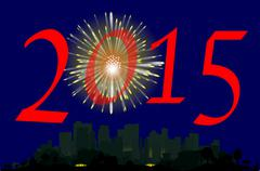 New years eve rocket Stock Illustration