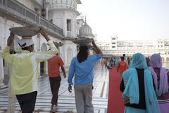 Stock Photo of People at Golden Temple, Amritsar, Punjab, India