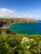 Coastline at The Lizard, Cornwall, England - stock photo