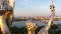Kiev City - the capital of Ukraine. Mother Motherland - stock footage
