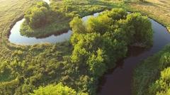 Beautiful nature scene. Flight over beautiful river Stock Footage