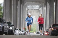 Women Running, Seattle, Washington, USA Stock Photos