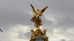 Victoria Memorial in London Stock Footage