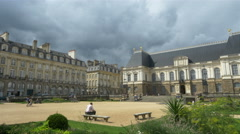 The Palace of Parliament of Brittany - Rennes France - HD 4K+ Stock Footage
