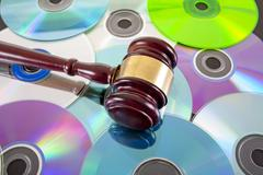 Music copy right law concept Stock Photos
