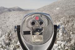View Finder at Lake Placid, New York, USA Stock Photos