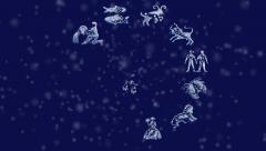 Zodiac symbols Stock Footage