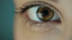 Woman's Eye Stock Footage