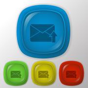 Postal envelope. Stock Illustration