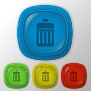 Stock Illustration of basket garbage