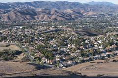 Los angeles area suburbs Stock Photos