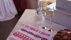 Ukrainian Wedding Traditions Stock Footage