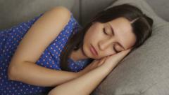 Young Woman Sleeping - stock footage