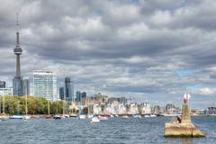 Toronto Skyline with a boats in the foreground Kuvituskuvat