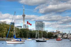 Boats and the Toronto Skyline Kuvituskuvat