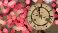 New Year's clock background Stock Footage