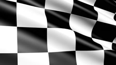 Checkered flag, animation Stock Footage
