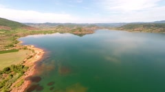 Aerial view of lac de salagou Stock Footage