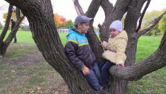 First romantic feeling. Childhood. Stock Footage