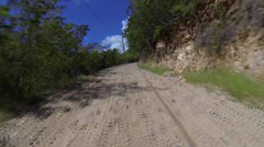 experiance the winding roads of the USVI - stock footage