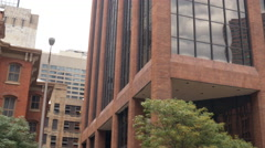 Pan across buildings in denver colorado establishing shot 4k Stock Footage