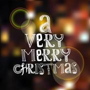 Merry christmas poster Stock Illustration