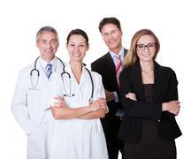 professional hospital staff - stock photo
