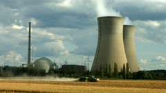 Nuclear power station Grafenrheinfeld Stock Footage