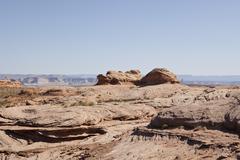 Stock Photo of Plateau Rock, Page, Lake Powell, Glen Canyon Nation Recreation Area, Arizona,
