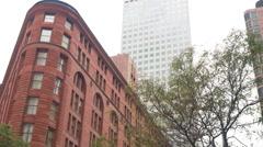 Tilt to brown palace hotel denver colorado establishing shot 4k Stock Footage