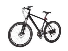 black mountain bike - stock photo