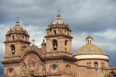Historic Church in in Cusco Stock Photos