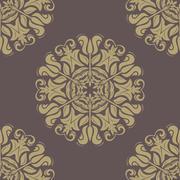 Orient Seamless  Pattern. Abstract Background Stock Illustration