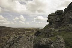 Views of Haytor, Dartmoor National Park, Devon, England - stock photo