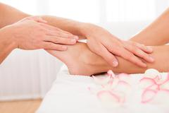 stressed toes needs to relax - stock photo