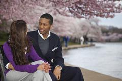 Couple, National Mall, Washington DC, USA Stock Photos