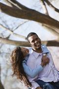 Couple, National Mall, Washington DC, USA - stock photo