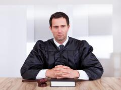 Portrait of serious male judge Stock Photos