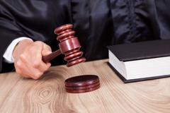 Male judge in a courtroom Stock Photos