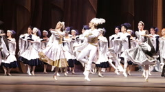 Dance company performs in theater dance festival Stock Footage